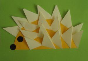 Origami jeż