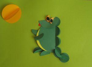 Origami krokodyl