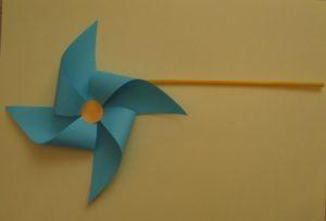 Origami wiatraczek